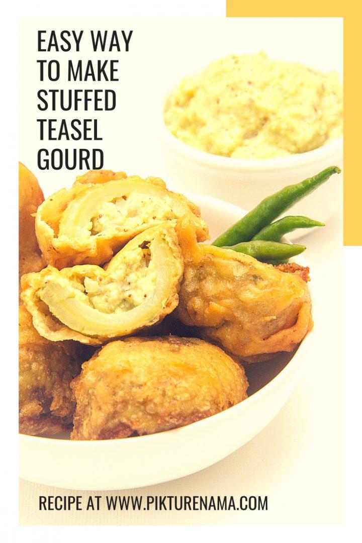 Stuffed teasel gourd pinterest