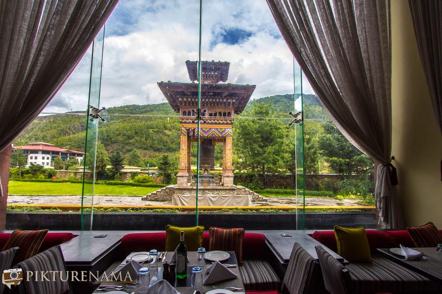 Taj Tashi Thimpu Bhutan breakfast view