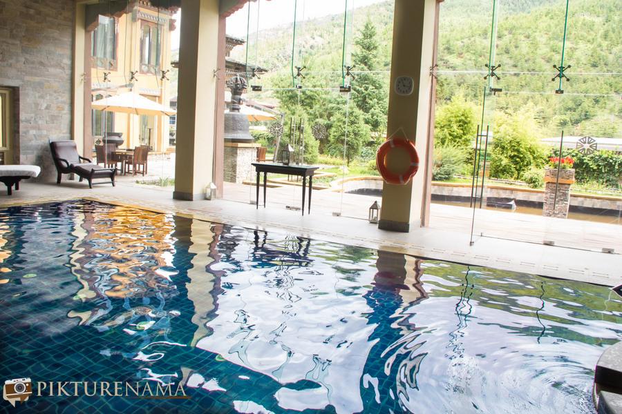 Taj Tashi Thimpu Bhutan swimming pool