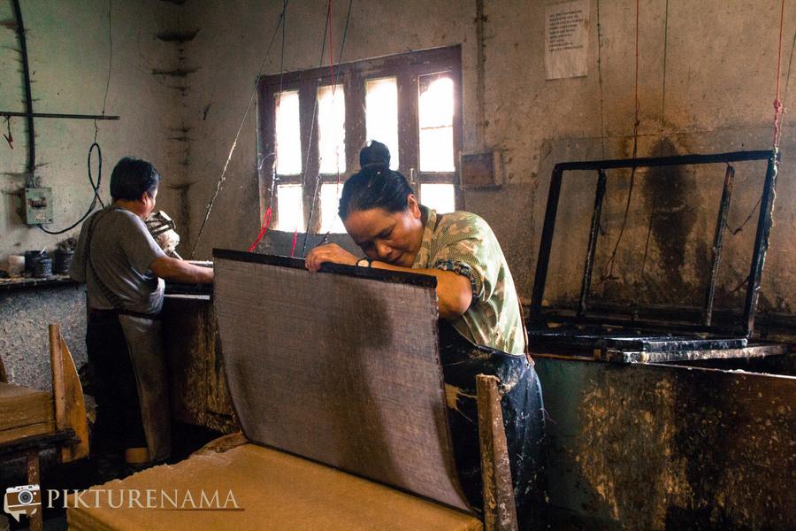 Jungshee Paper factory Thimpu Bhutan- 10