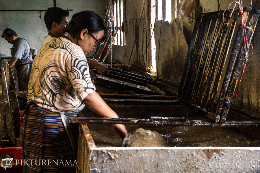 Jungshee Paper factory Thimpu Bhutan - 25
