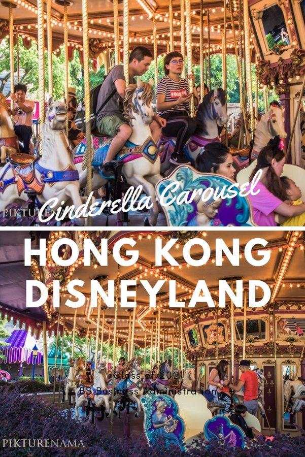 Cinderella Carousel in Hong Kong Disneyland