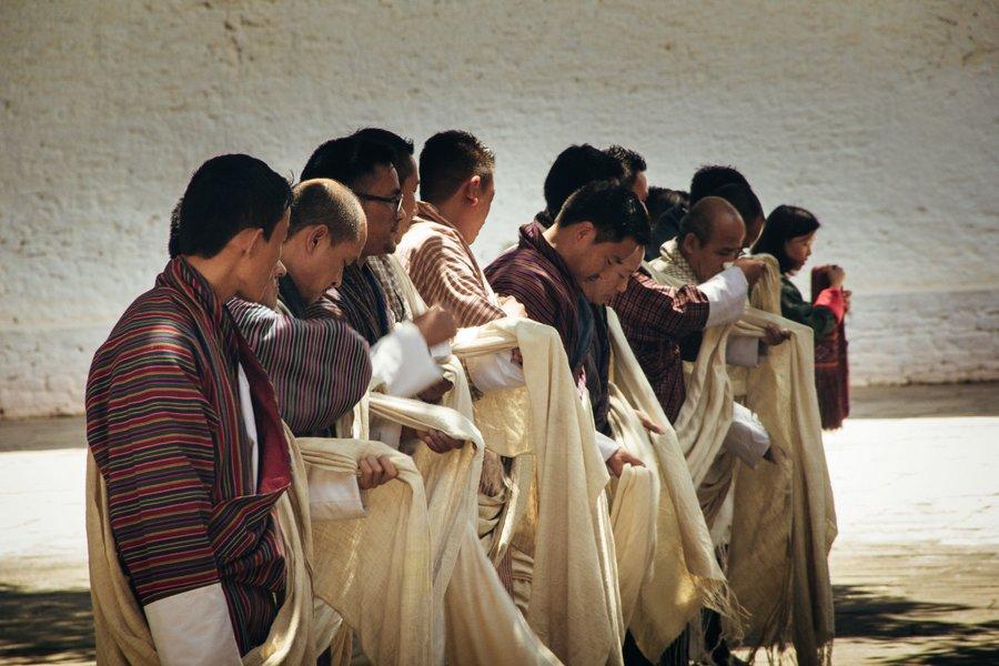 Inside Punakha Dzong Bhutan - 3