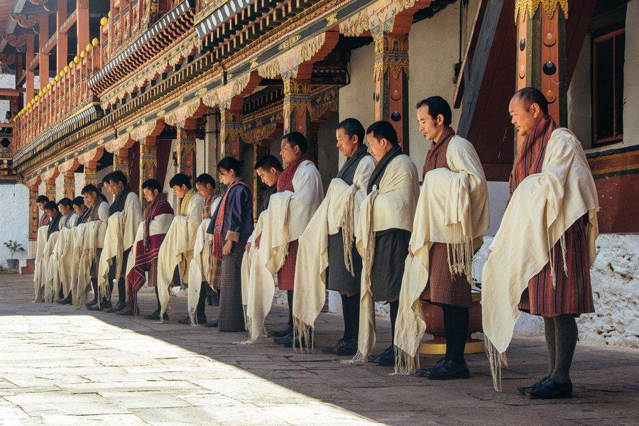 Inside Punakha Dzong Bhutan - 14