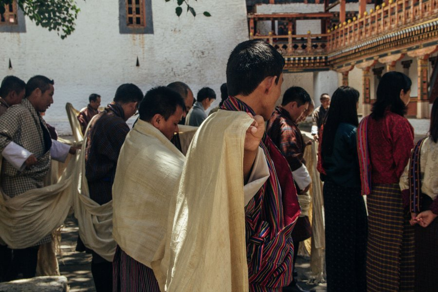 Inside Punakha Dzong Bhutan - 26