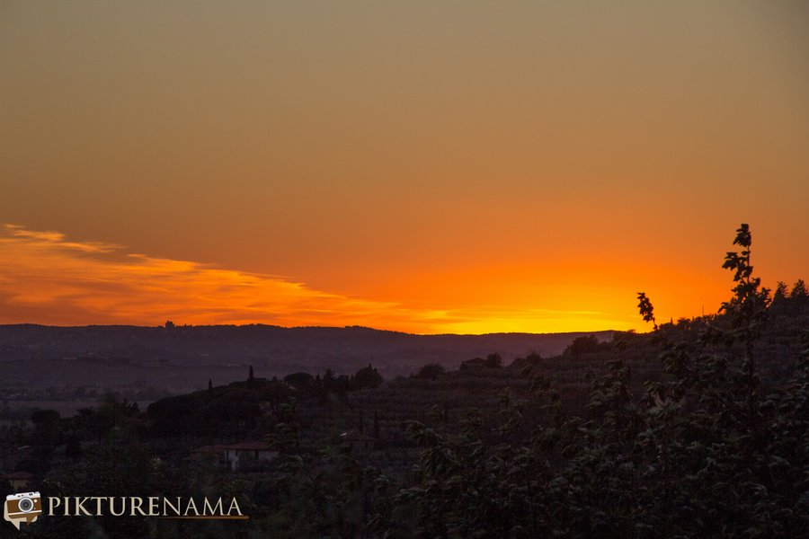 Il Falconaire Tuscany Italy the sunset