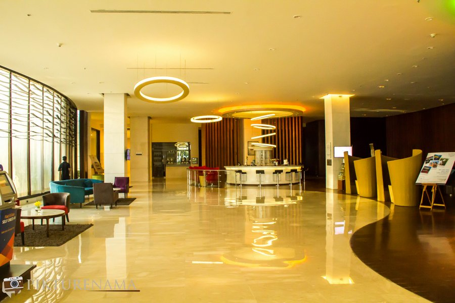 Novotel Hyderabad Airport lobby