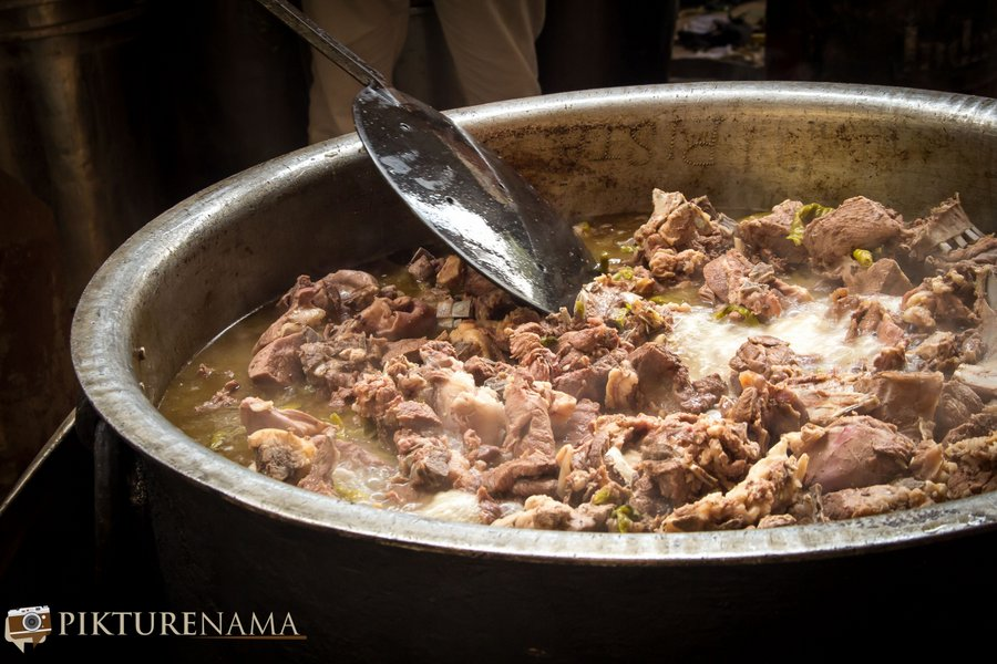Pista House Hyderabad mutton getting boiled