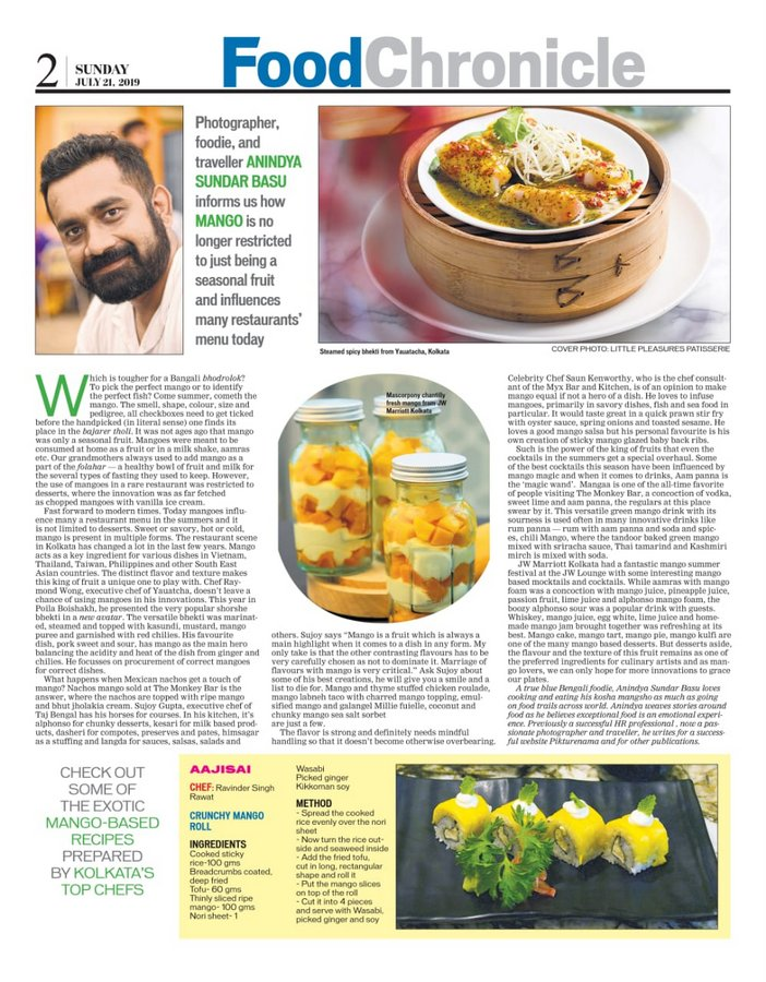 Many moods of mango - the Write up in Eastern Chronicle