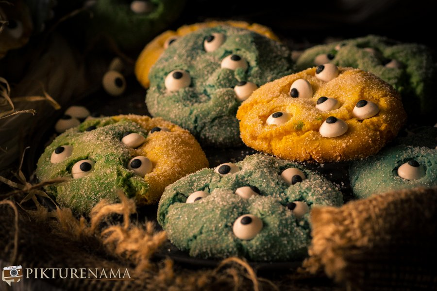 Halloween Monster Cookies I Cake Mix Cookies