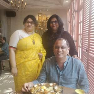 A special lunch with Kalyan and celebrating finely chopped's birthday