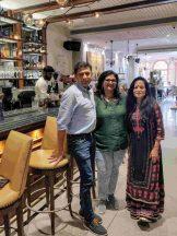 With Sumita and Kishore