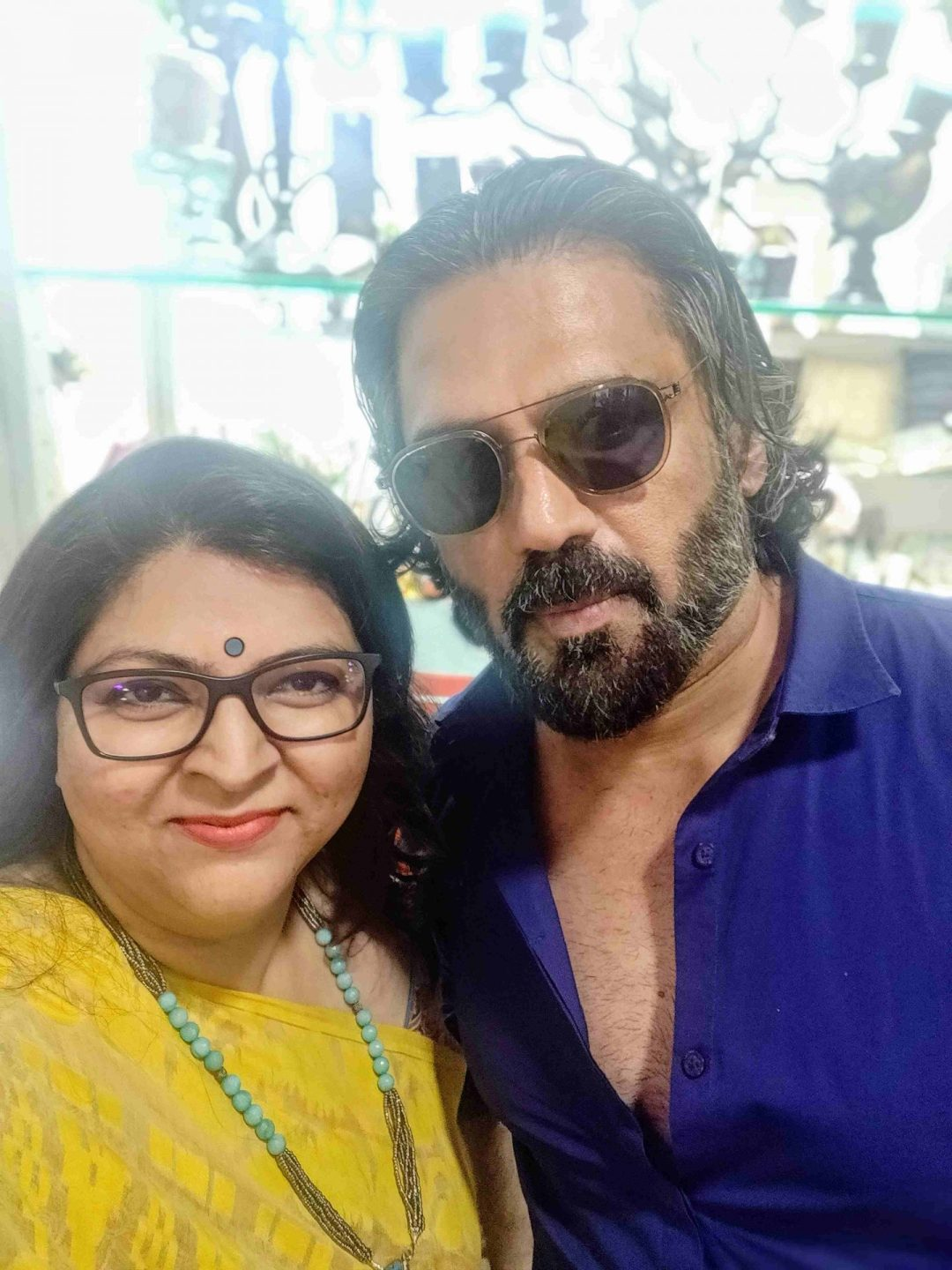 With Mr. Suniel Shetty