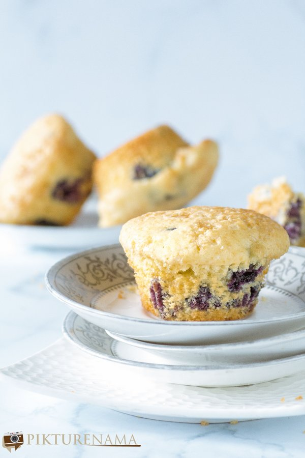 blueberry muffins - 4