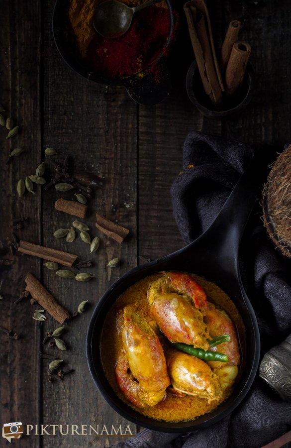 Chingri Malakari / Prawn Malai Curry - 6