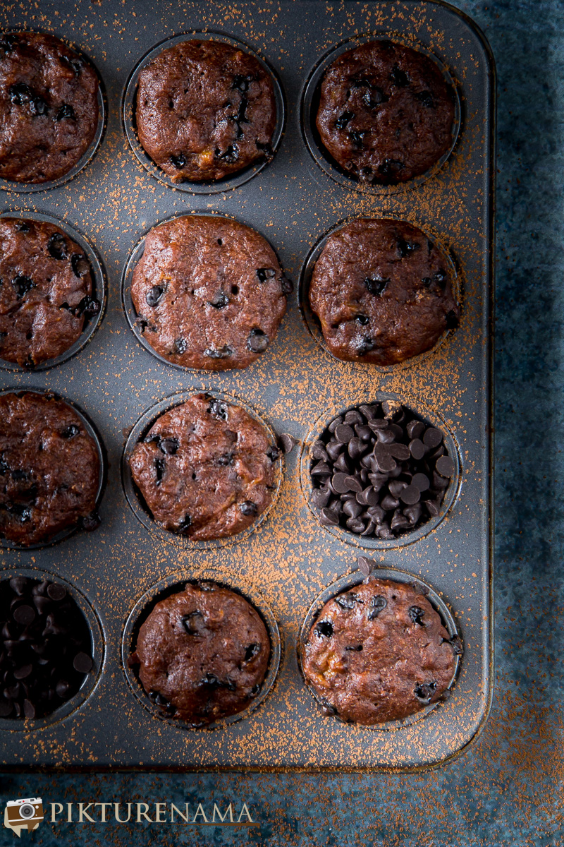 chocolate banana muffins - 5