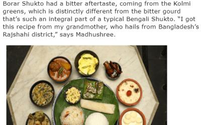 City bloggers Madhushree and Debjani host a celebration of Bengali food at Chilekotha