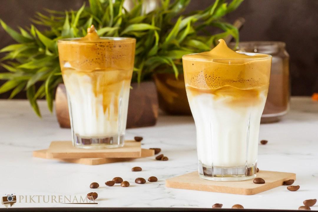 Dalgona Coffee in cook with Pikturenama