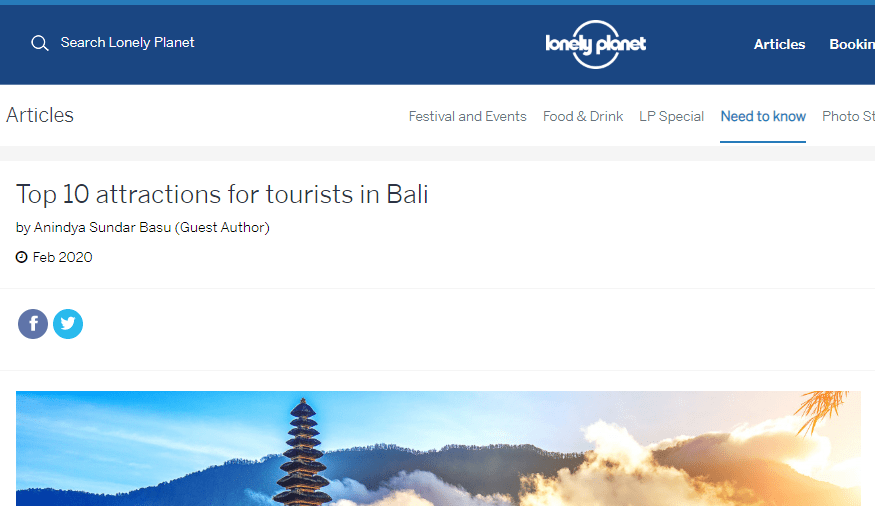 Lonely Planet - Top 10 Attractions in Bali