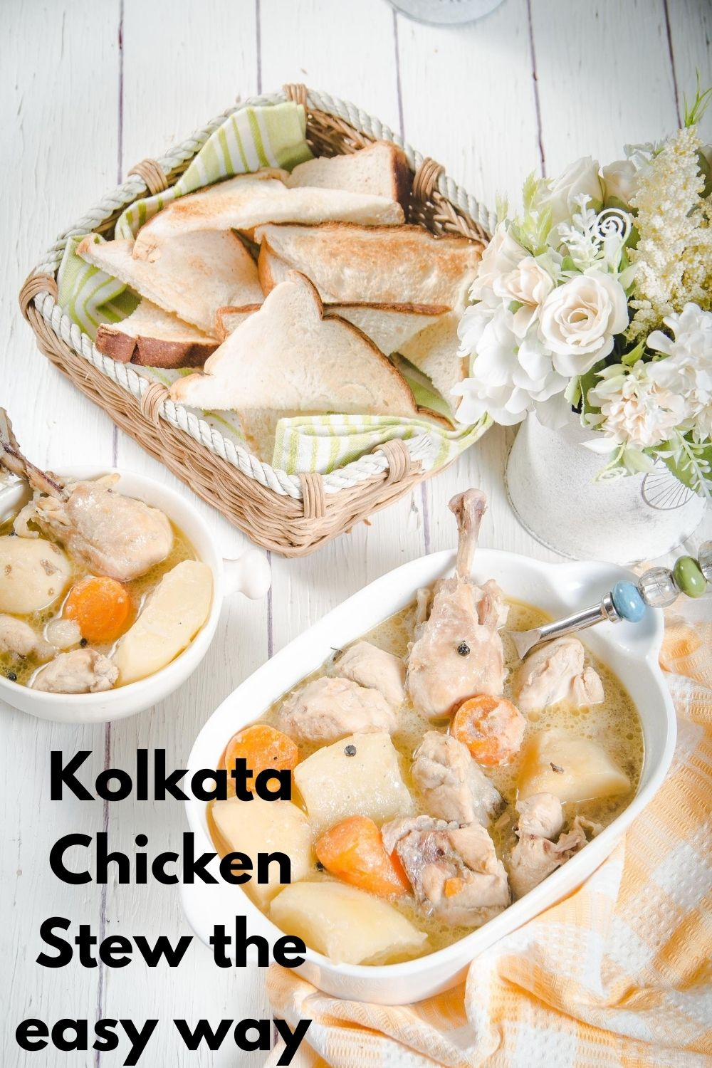 Kolkata chicken Stew for Pinterest