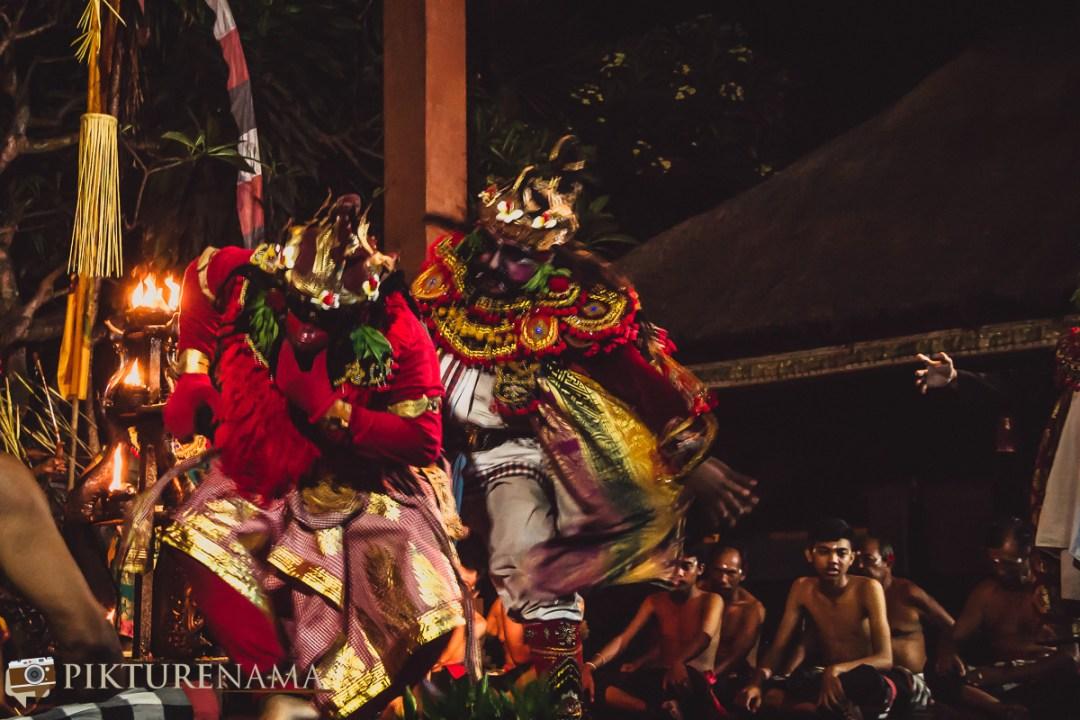 Kecak dance at Batubulan - 1 Ravana and his dance