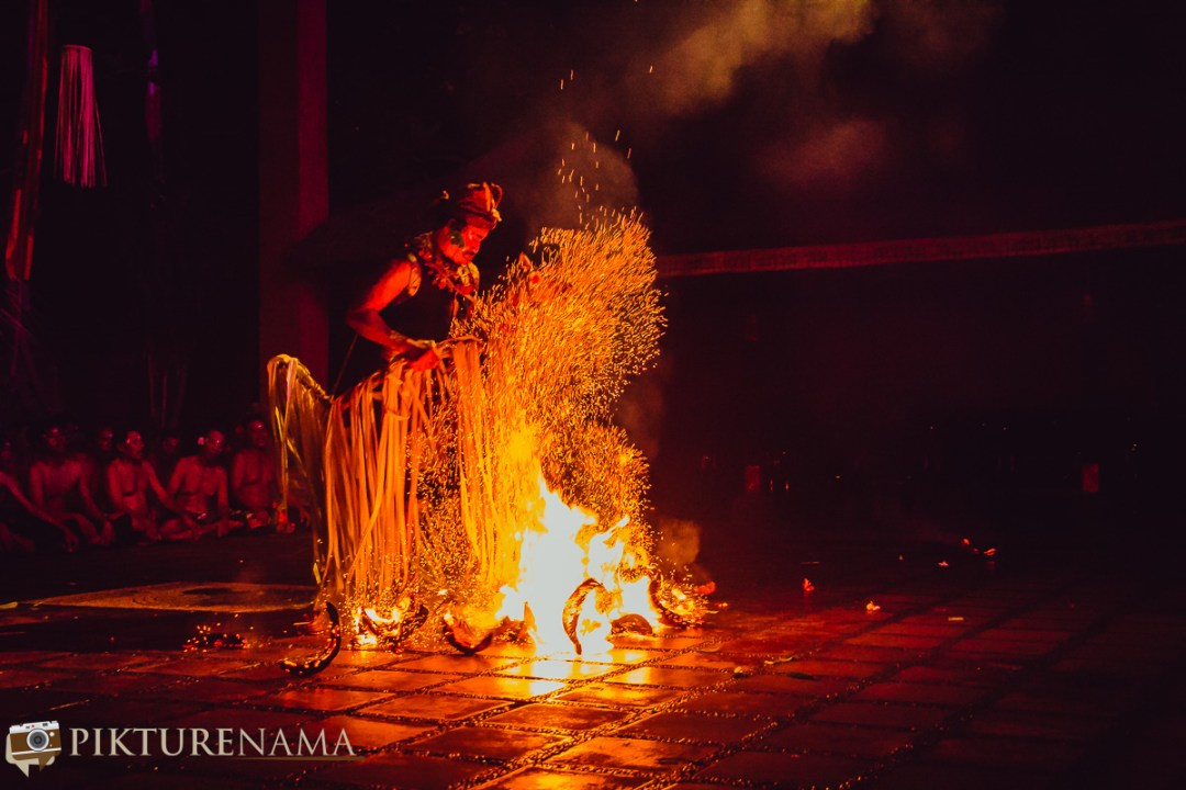 Kecak dance - real fire on stage