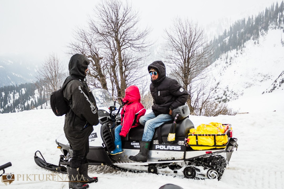 Gulmarg gondola ride the snowbikes