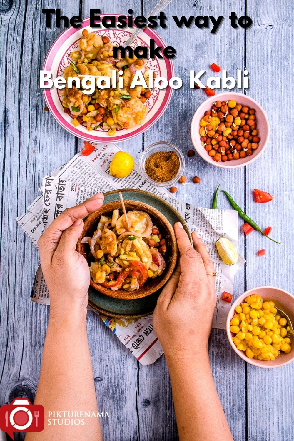 How to make Aloo Kabli pinterest