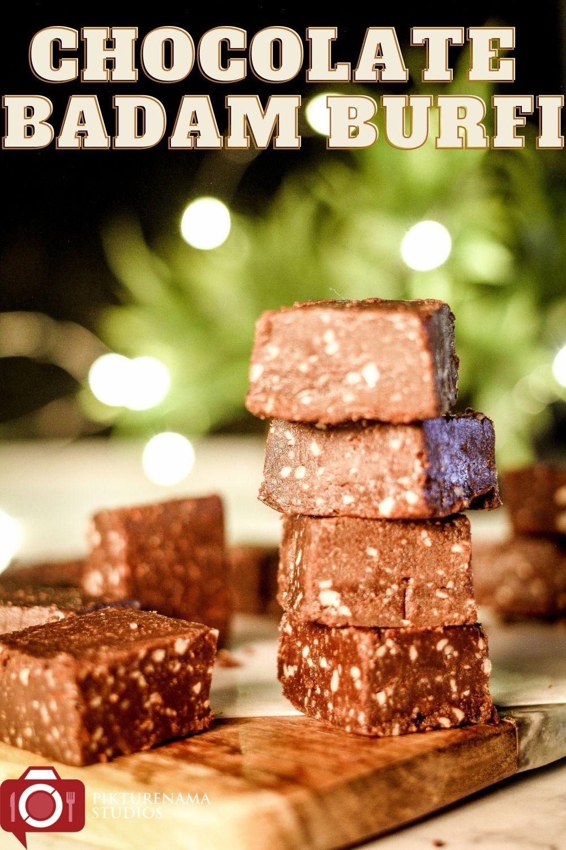 Chocolate Badam Burfi Pinterest