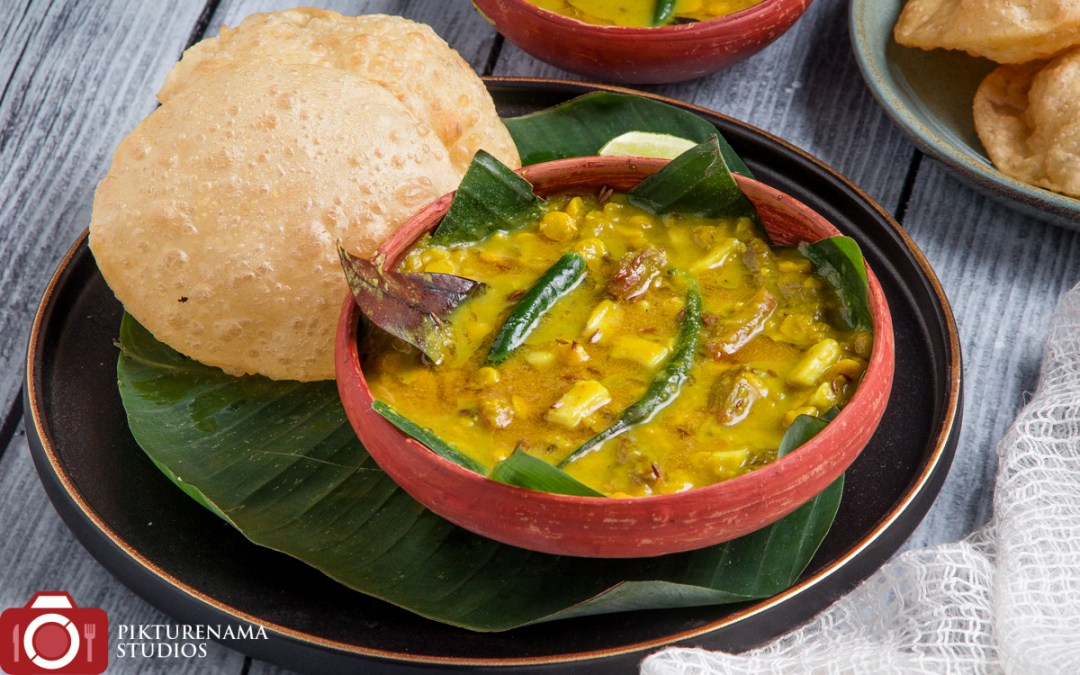 Bengali Choalr dal and Luchi