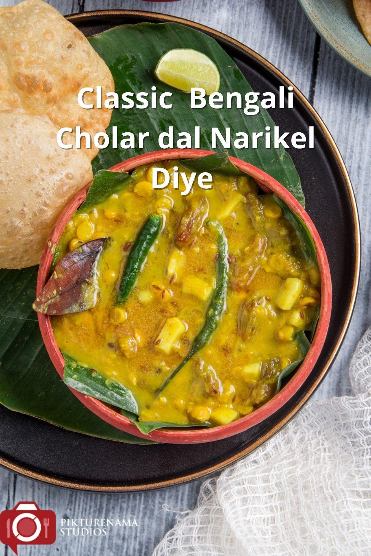 Bengali Cholar Dal recipe - for pinterest