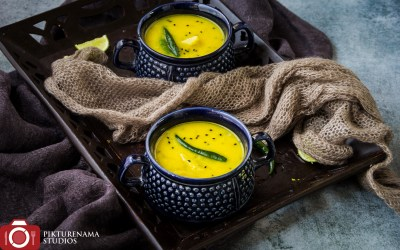 Mulo Diye Motor Dal | Yellow Split Pea Cooked With Radish