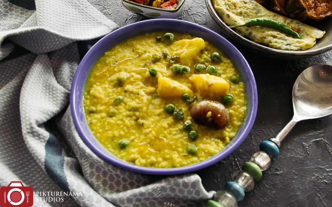 Easy way to make Masoor dal Khichuri -1