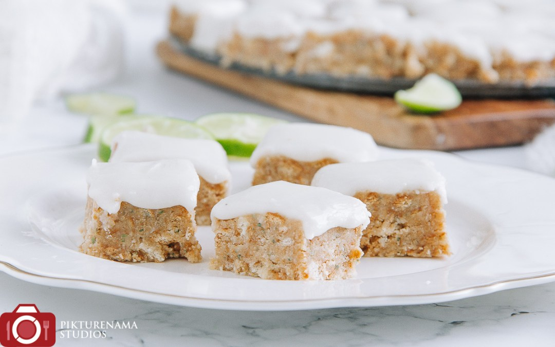Lemon and Coconut Slice with Aniseed Myrtle- A perfect afternoon snack
