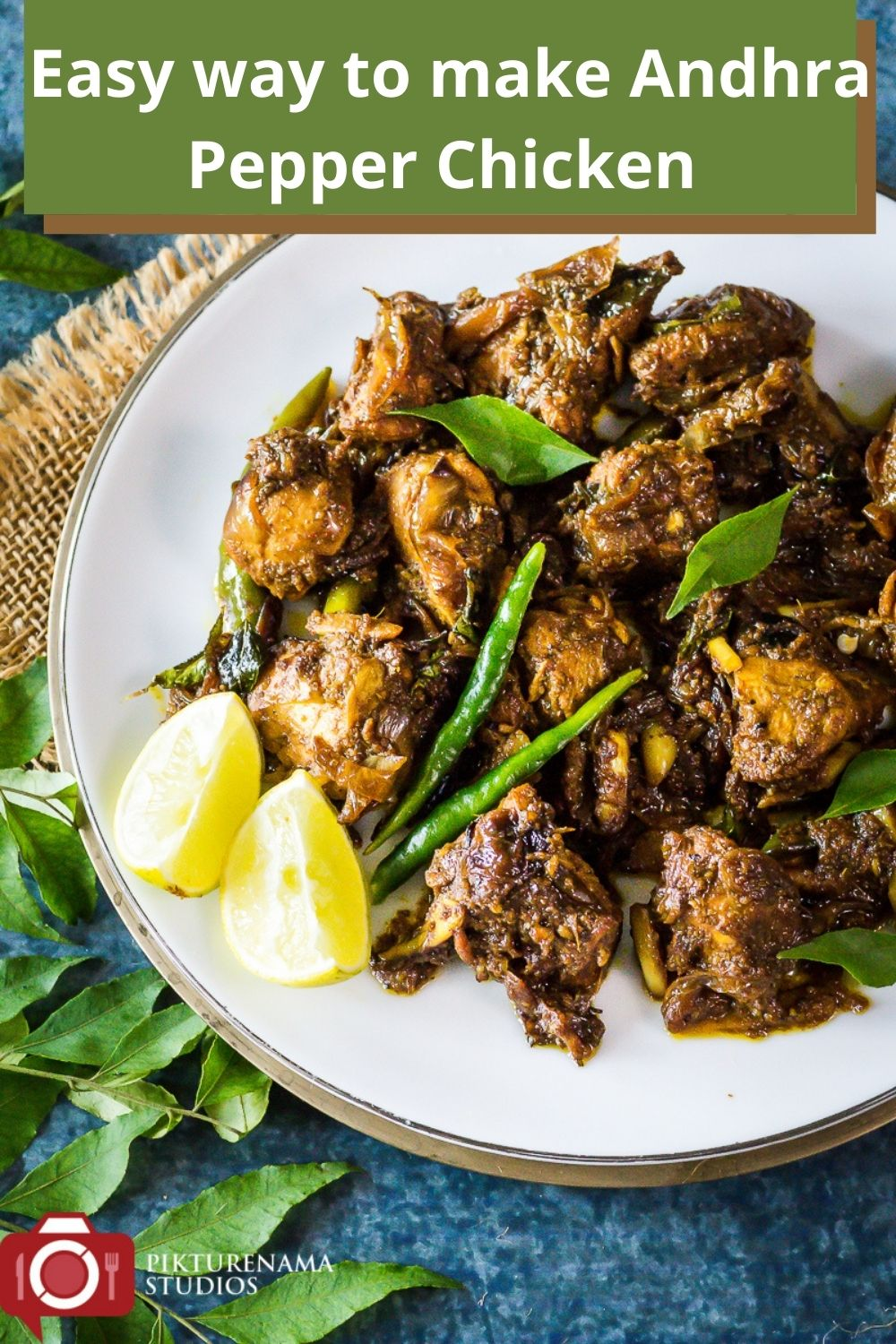Easy way to make Andhra Pepper Chicken pinterest