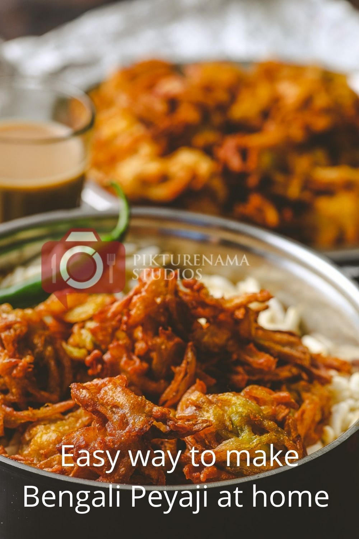 Easy Bengali Onion Fritters - Peyaji at home - 1
