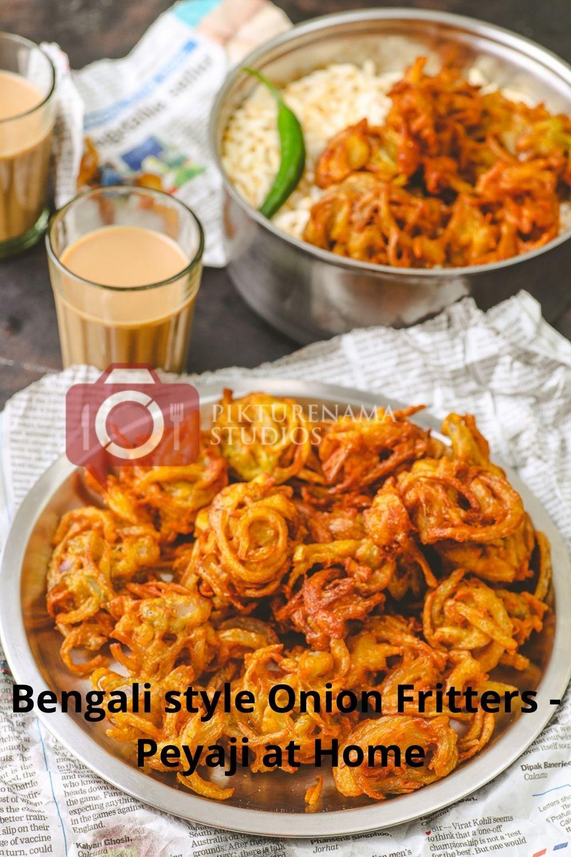 Easy Bengali Onion Fritters - Peyaji at home - 3