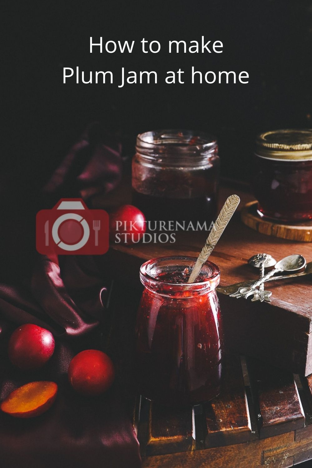 Easyway to make Plum Jam at home for Pinterest - 1