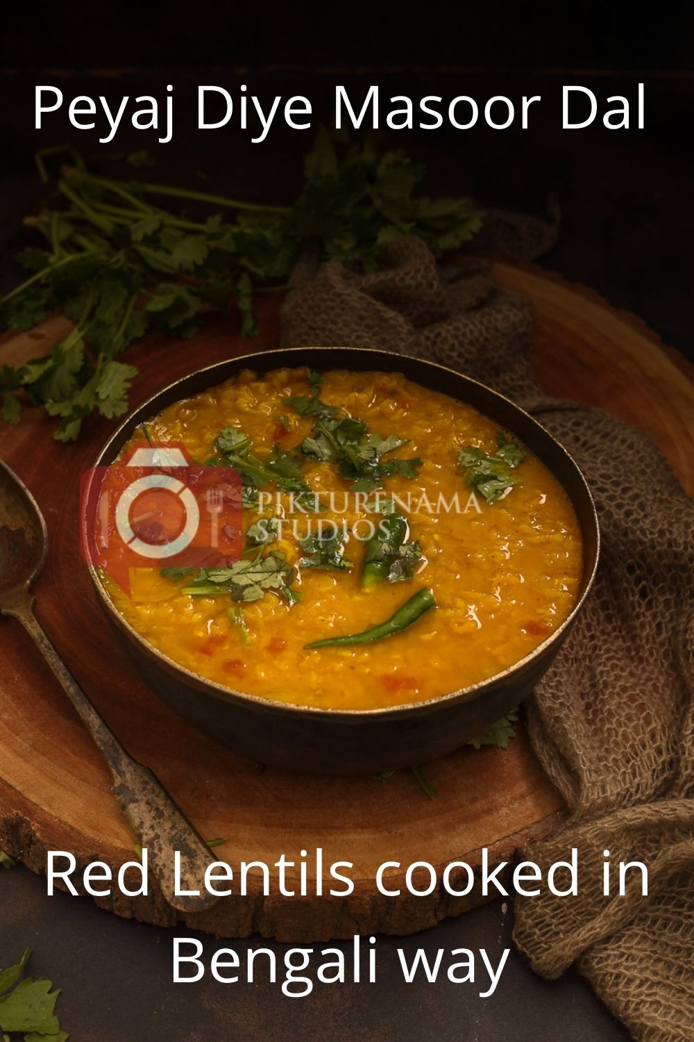 Red Lentils cooked in bengali way - Masoor Dal for Pinterest