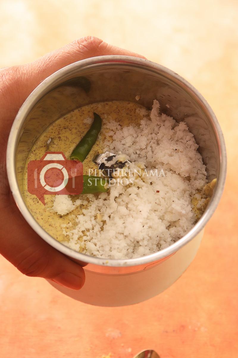 Easy way to make Bhapa Ilish - coconut and mustard powder