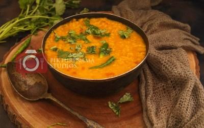 Peyaj Diye Masoor Dal | Bengali Masoor Dal with Onions
