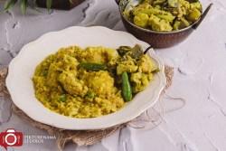 Bhoger Khichuri or Bengali Durgapujo Khichuri - 4