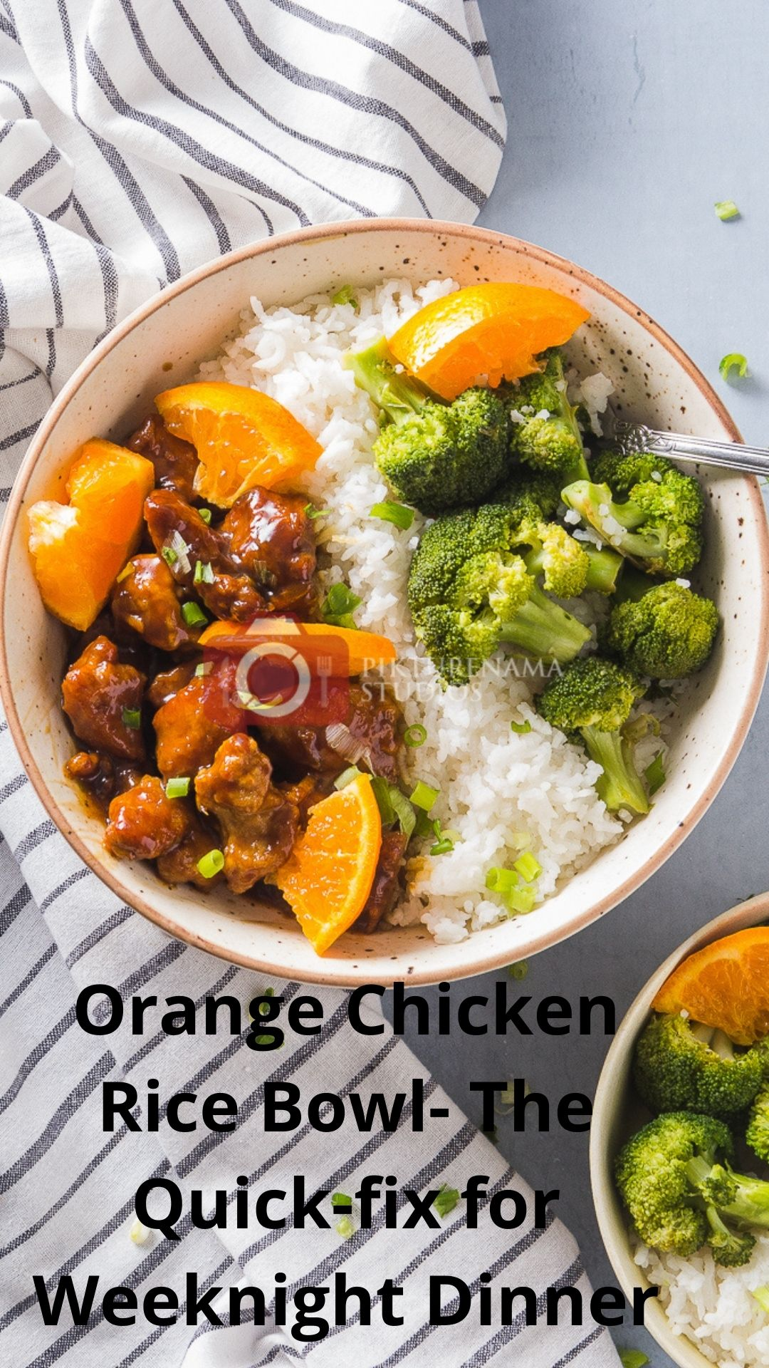 Orange Chicken Rice Bowl- The Quick-fix for Weeknight Dinner Pinterest