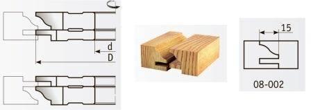 08-002 Комплект фрез 125*32 мм для мебельной обвязки
