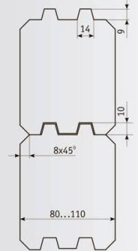 03-990 Комплект фрез 160*40 мм для бруса толщиной 80-110 мм