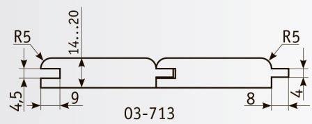 03-713 Комплект фрез 160*40 мм для производства вагонки