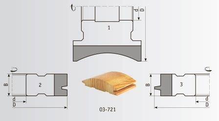03-721 Комплект фрез 125*32 мм для блок-хауса