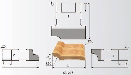 03-215 Комплект фрез 180*60 мм для плинтуса