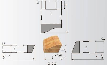 03-217 Комплект фрез 180*60 мм для плинтуса