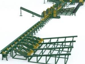 Лесопильный комплекс для переработки пиловочника